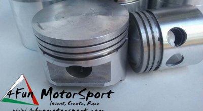 Costruzione Pistoni Motore Moto Epoca Regolarità Cross Enduro  Monoblocco Fuso Forgiato Avional 2 tempi, 4 tempi, Fasce elastiche, spinotto